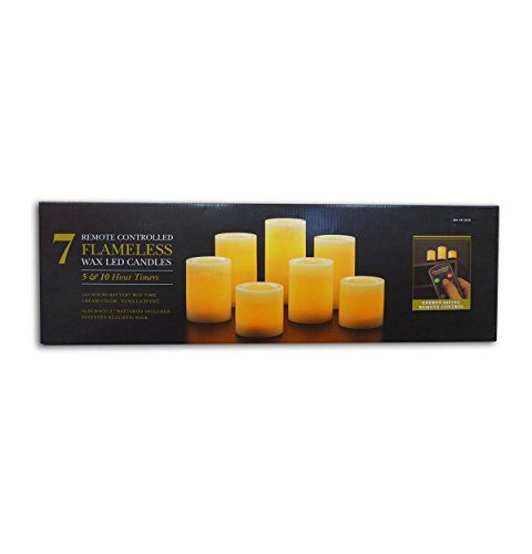 Flameless Candles With Remote Costco Flameless Led 7Pack Wax Candles With Remote Control Costco Http