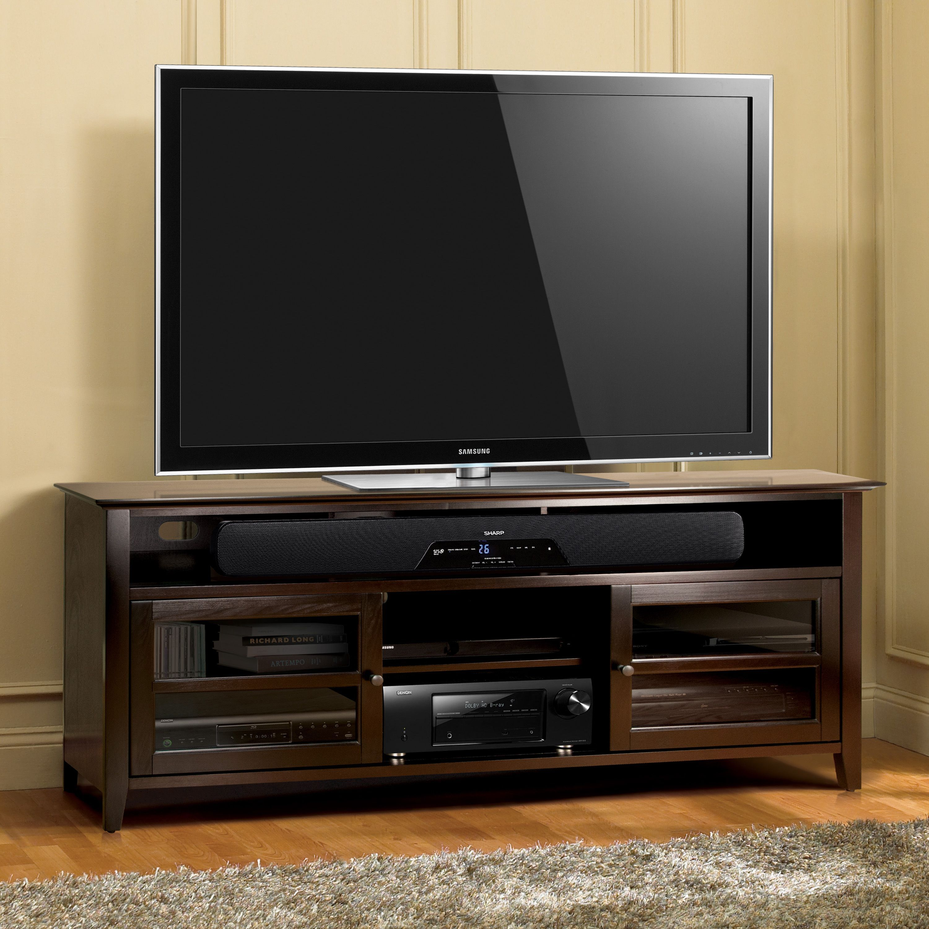 promo code 5d117 ace18 Bell'O WAVS99175 75-inch Dark Espresso TV Stand for TVs up ...