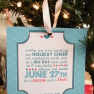 DIY Christmas Save the Date Ornaments
