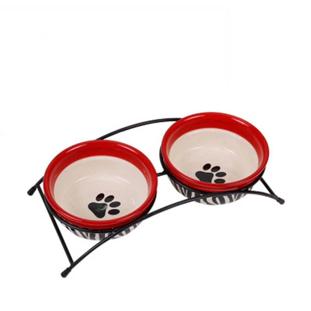 Rlley Ceramic Pet Bowl with Stand Mixing Bowl Set of 2 * Find out more about the great product at the image link.