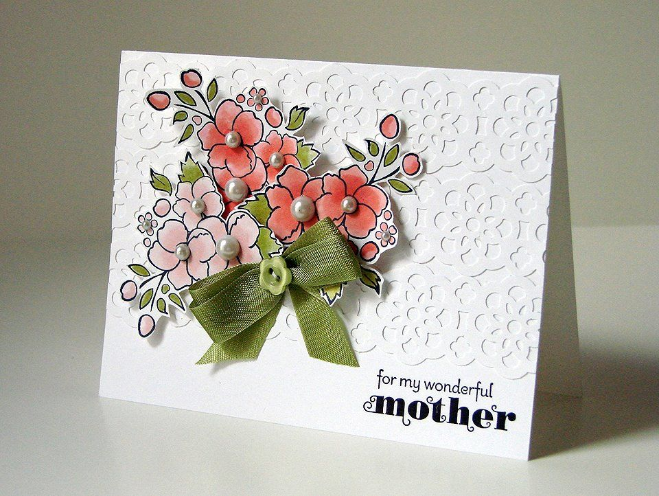 Mother S Day Card Idea Stampin Up Cards Handmade Floral