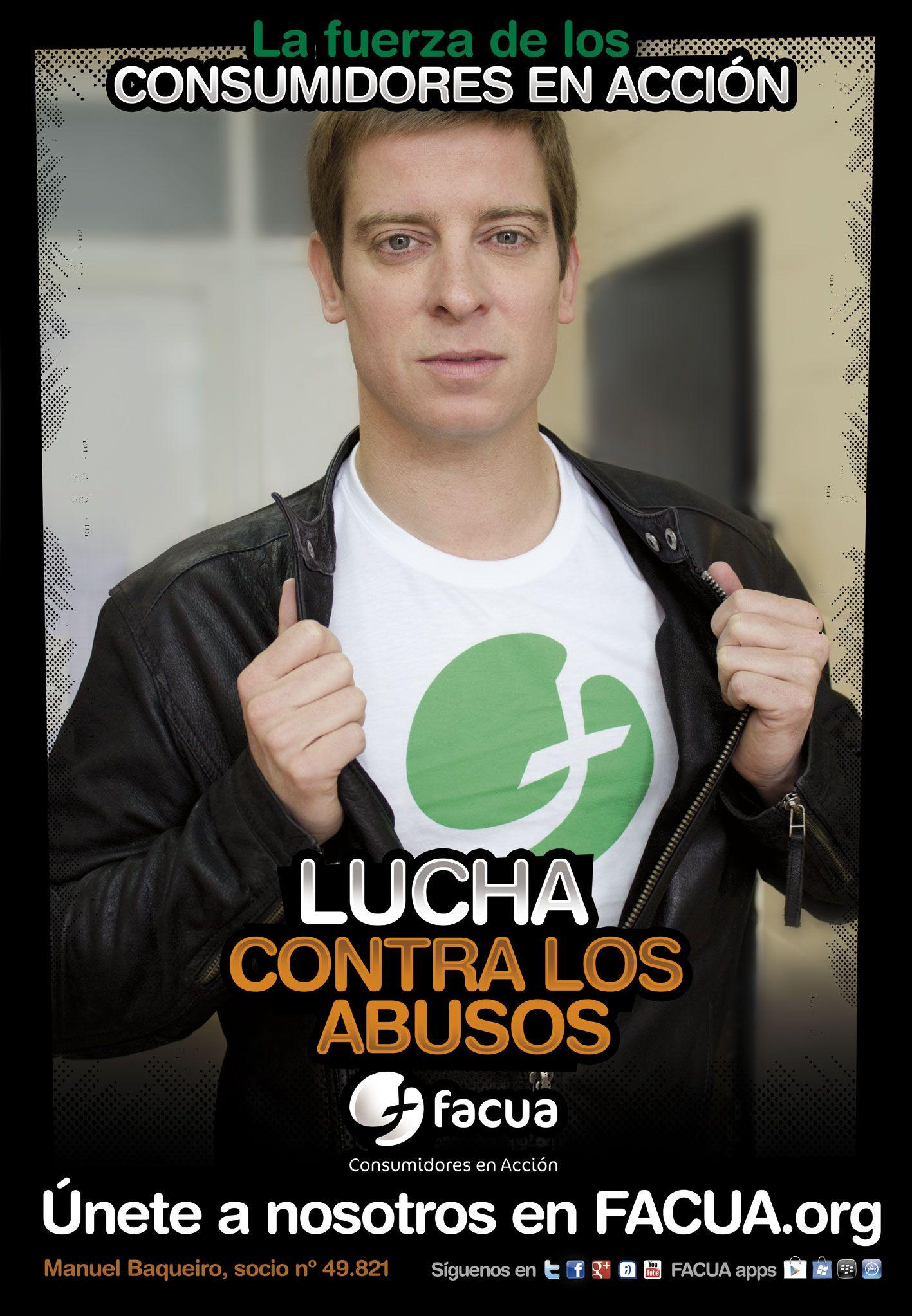 Manuel Baqueiro, socio de FACUA nº 49.821, llama a los consumidores a la lucha contra los abusos