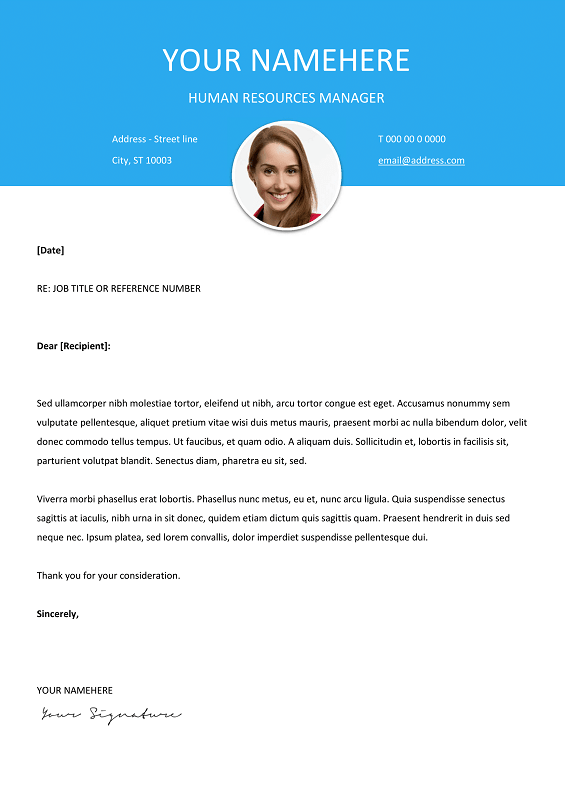 le marais free modern cover letter template for word docx - Free Templates For Cover Letter For A Resume