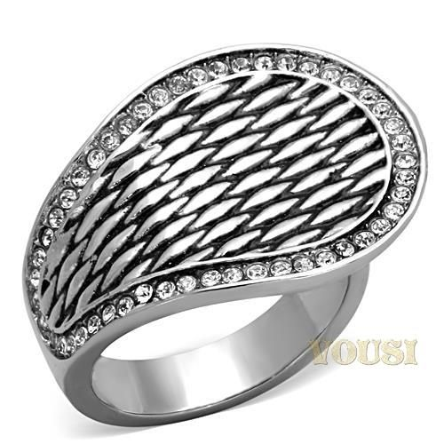 Womens Fashion Jewelry Ring by Classy Not Trashy/® Premium Grade High Quality Stainless Steel Clear Top Grade Crystal