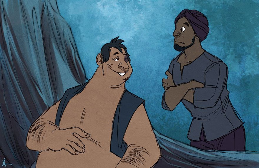 Disney Animals If They Were Humans Baloo and Baghera