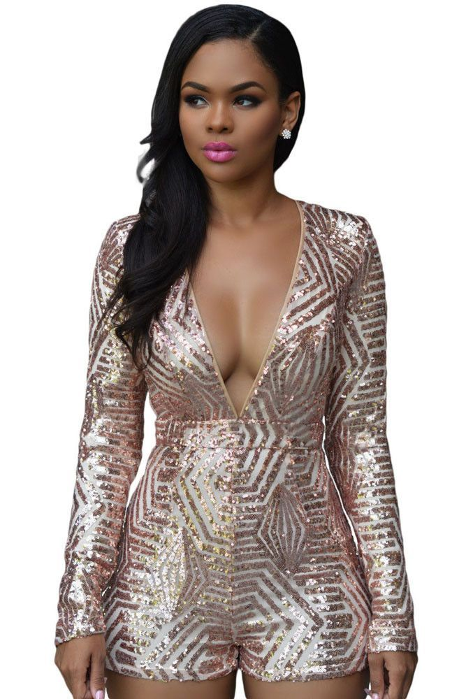 c21d4ac072b Chasubles   Grenouilleres Or Rose Sequin Playsuit Pas Cher www.modebuy.com   Modebuy  Modebuy  CommeMontre  sexy  me  Rose