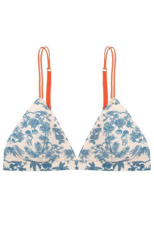 a1e8b8e826 LOVE STORIES PALM PATTERNED BIKINI TOP | RELAX | Swimwear, Swimwear ...