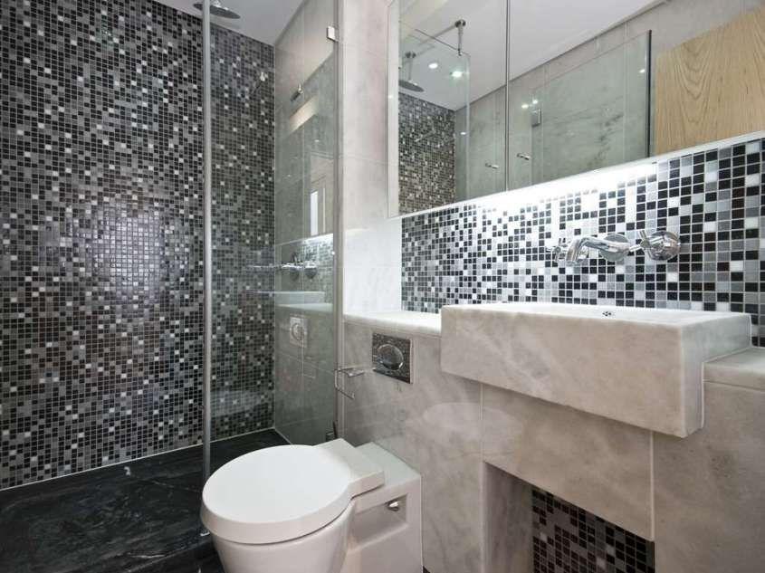 moderni con mosaico - mosaico effetto brillante - Bagni Moderni Con Mosaico