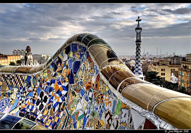 Parc Güell - Barcelona    Park Güell is a garden complex with architectural elements situated on the...