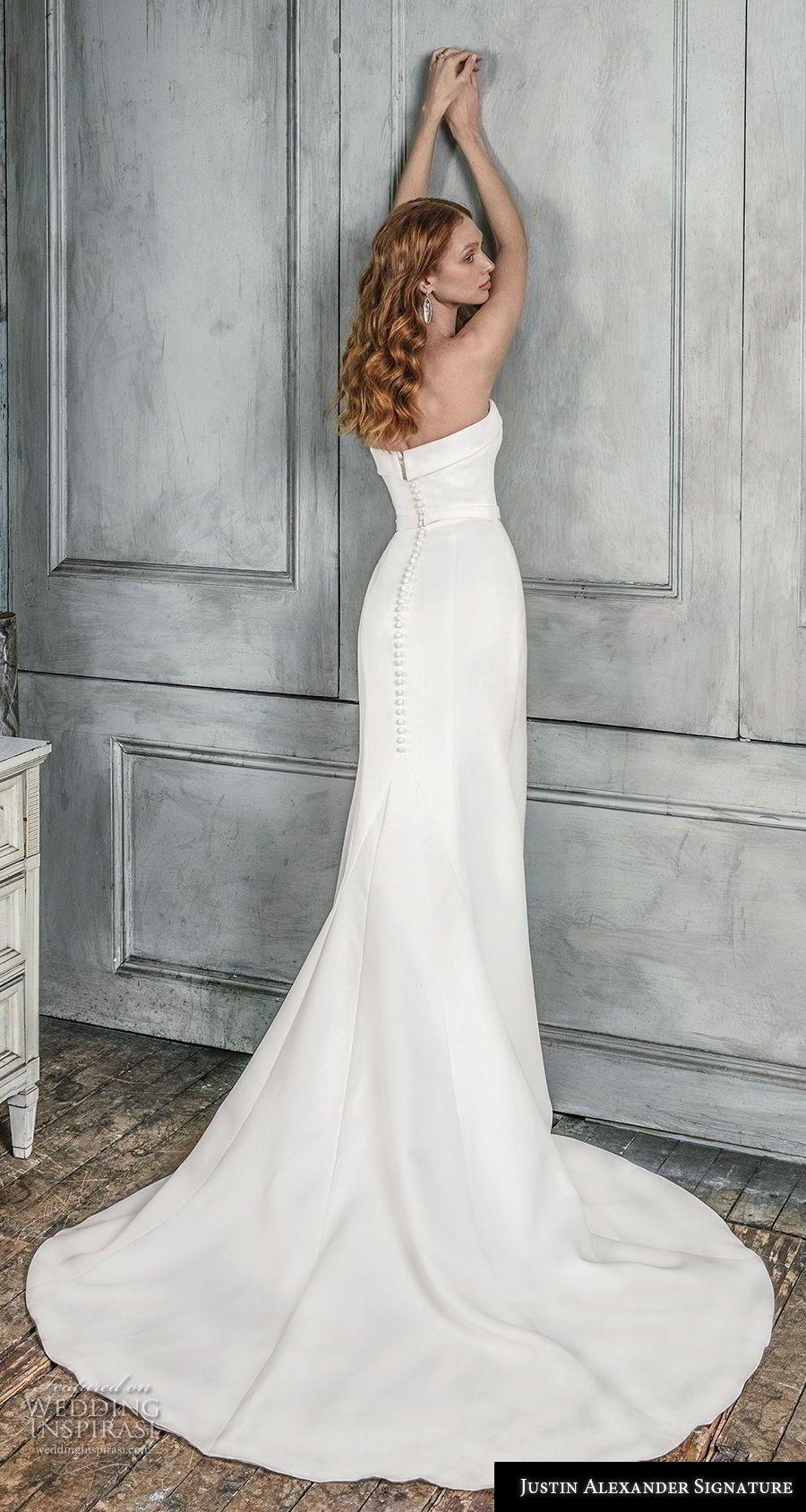 Simple elegant wedding dress designers  Justin Alexander Signature Fall  Wedding Dresses  Designer