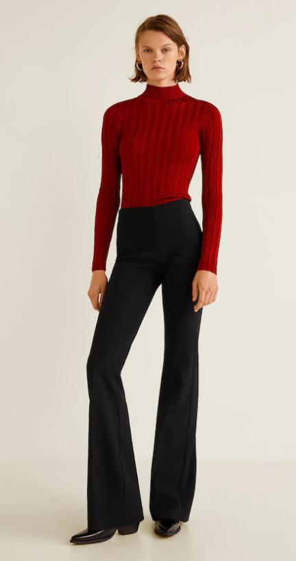 b929bd9cc1fc4d Mango Flared Pants - 49,99€ #theradicalblog #fall #fall18 #trend #outfit  #mango #jersey