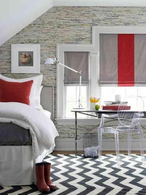 Chambre gris et rouge - une chambre adulte très élégante Pinterest