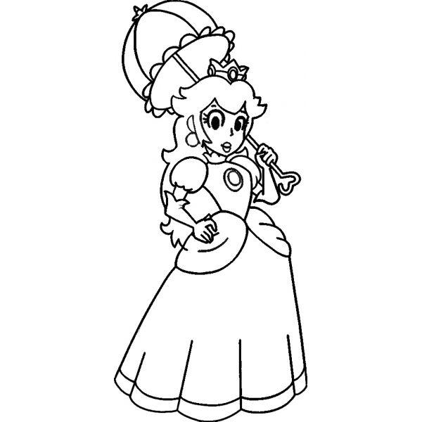 Disegno Di La Principessa Peach Da Colorare Per Bambini Disegnidacolorareonline Com Vozeli Com