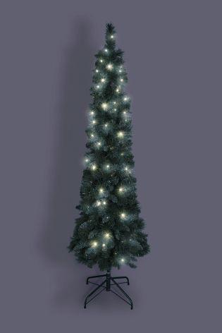 Led Pre Lit Slim Forest Pine Tree