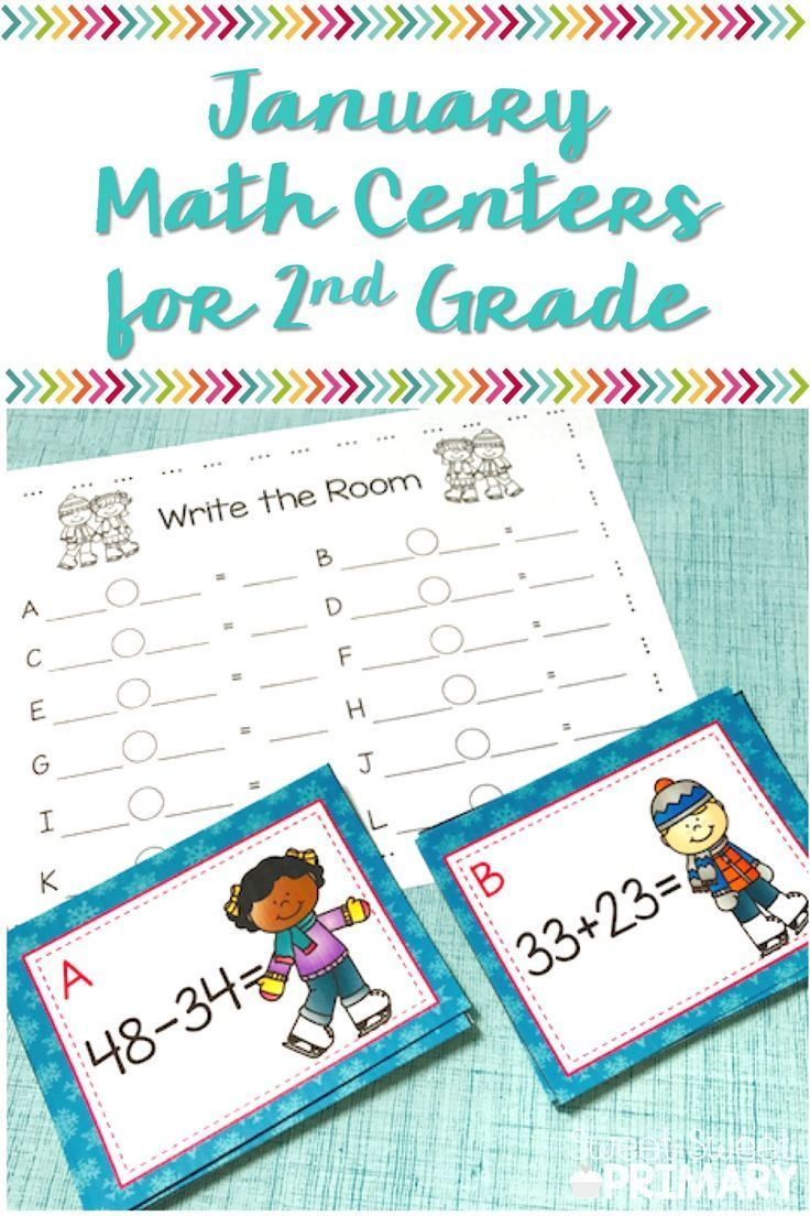 January Math Centers for 2nd Grade | Math, Telling time and ...