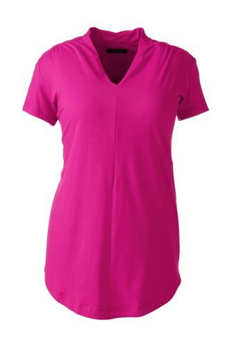 Women's+Plus+Size+Short+Sleeve+Tunic+Top+from+Lands'+End