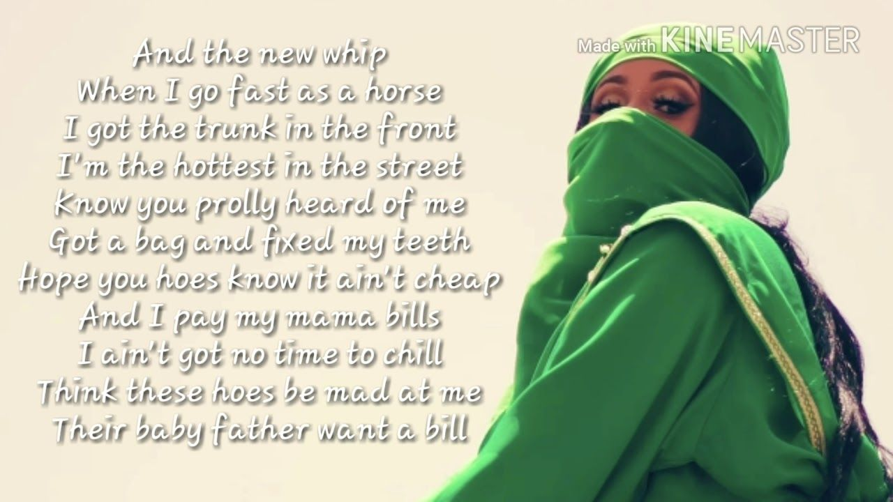 f6a0b9184973 Cardi B -bodak yellow lyrics