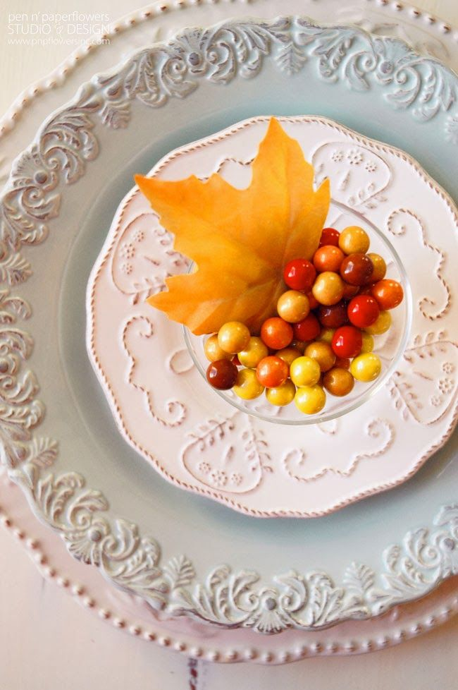 STYLING   Thanksgiving Place Setting Ideas