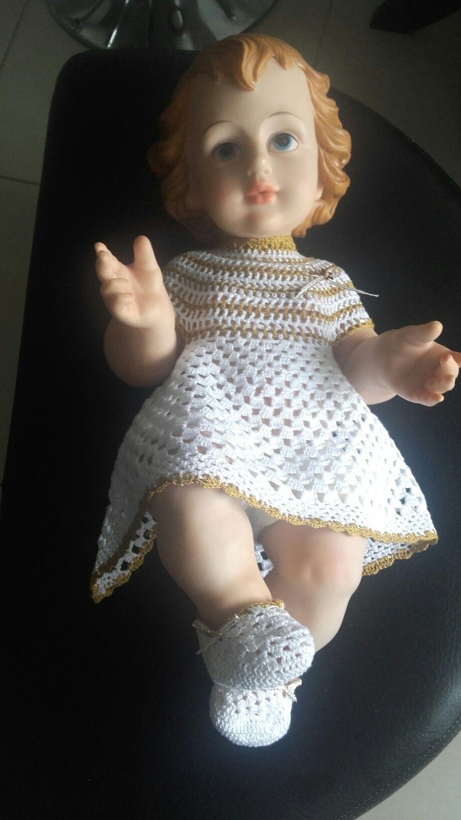 Vestido En Crochet Para Niño Dios Mundo Croché Ropones