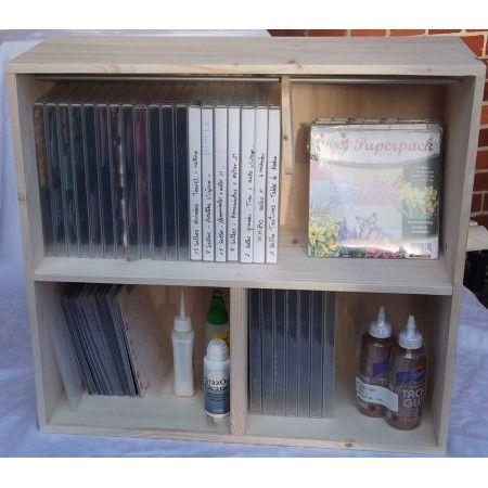 Estanteria para las cajas de los troqueles y sellos, dvd, libros.