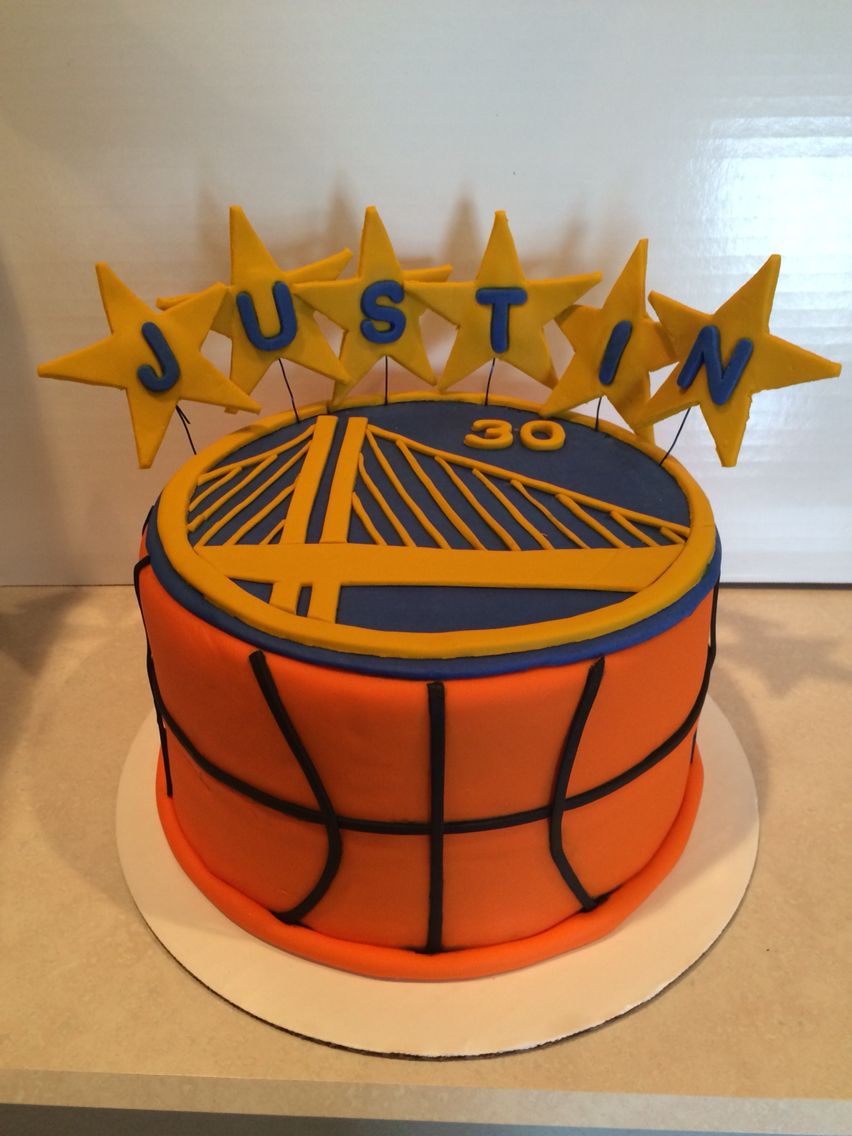 Prime Golden State Warriors Birthday Cake With Images Basketball Funny Birthday Cards Online Unhofree Goldxyz