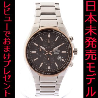 5d9171022a 【CASIO】 カシオ エディフィス 腕時計 メンズ シルバー×ブラック 日本未発売 海外モデル クロノ