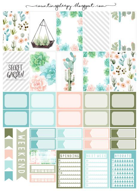 image regarding Free Planner Sticker Printables named Counting Sheepy: Free of charge Planner Printables - Mystery Backyard