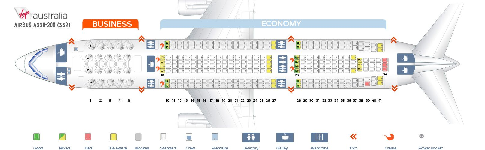 airbus a330 200 seat map Virgin Australia Fleet Airbus A330 200 Details And Pictures airbus a330 200 seat map