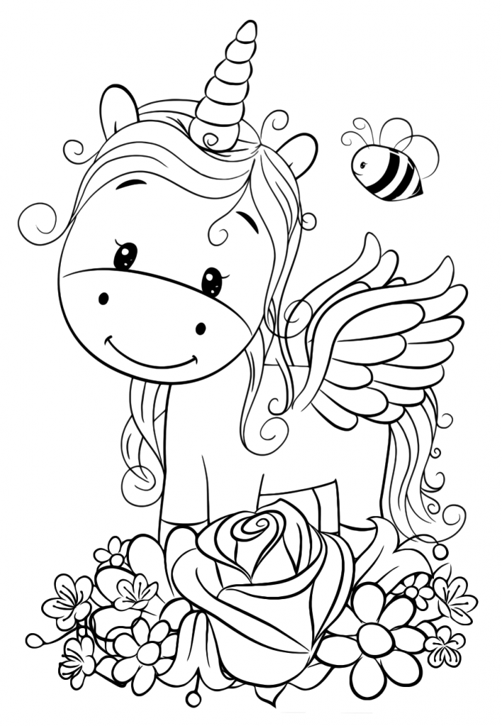 Cute Unicorn Coloring Pages For Kids Unicorn Coloring Pages Monster Coloring Pages Cartoon Coloring Pages