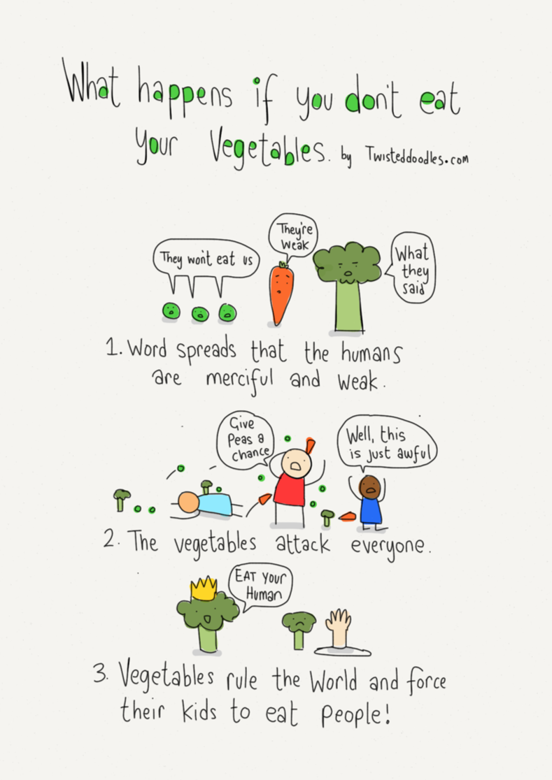 What Happens When You Don T Eat Your Vegetables With Images Funny Pictures For Kids Health Humor Funny Pix