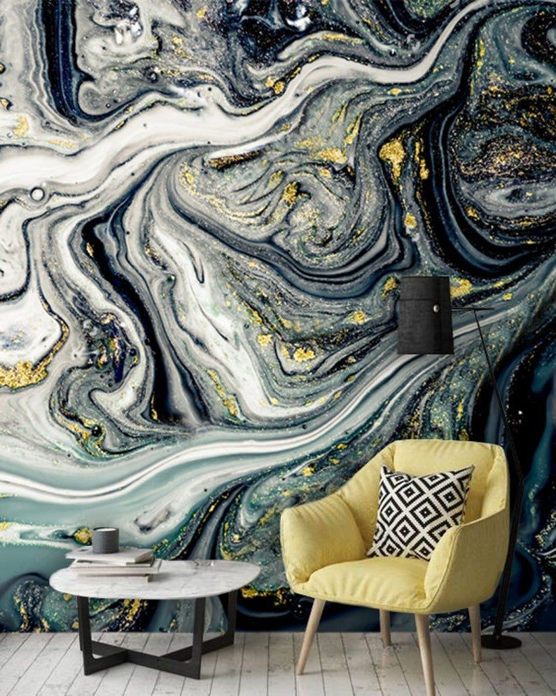 Wallpaper Vinyl Black White And Gold Marbling Art Self Adhesive Oriental Large Photo White And Gold Wallpaper Marble Art Wallpaper