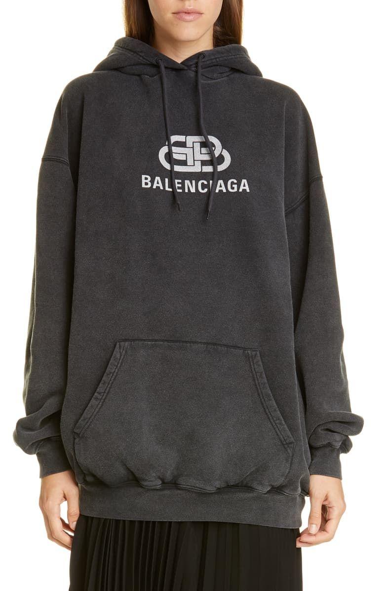 Balenciaga Bb Logo Oversize Hoodie Nordstrom Oversize Hoodie Hoodies Bb Logo [ 1196 x 780 Pixel ]