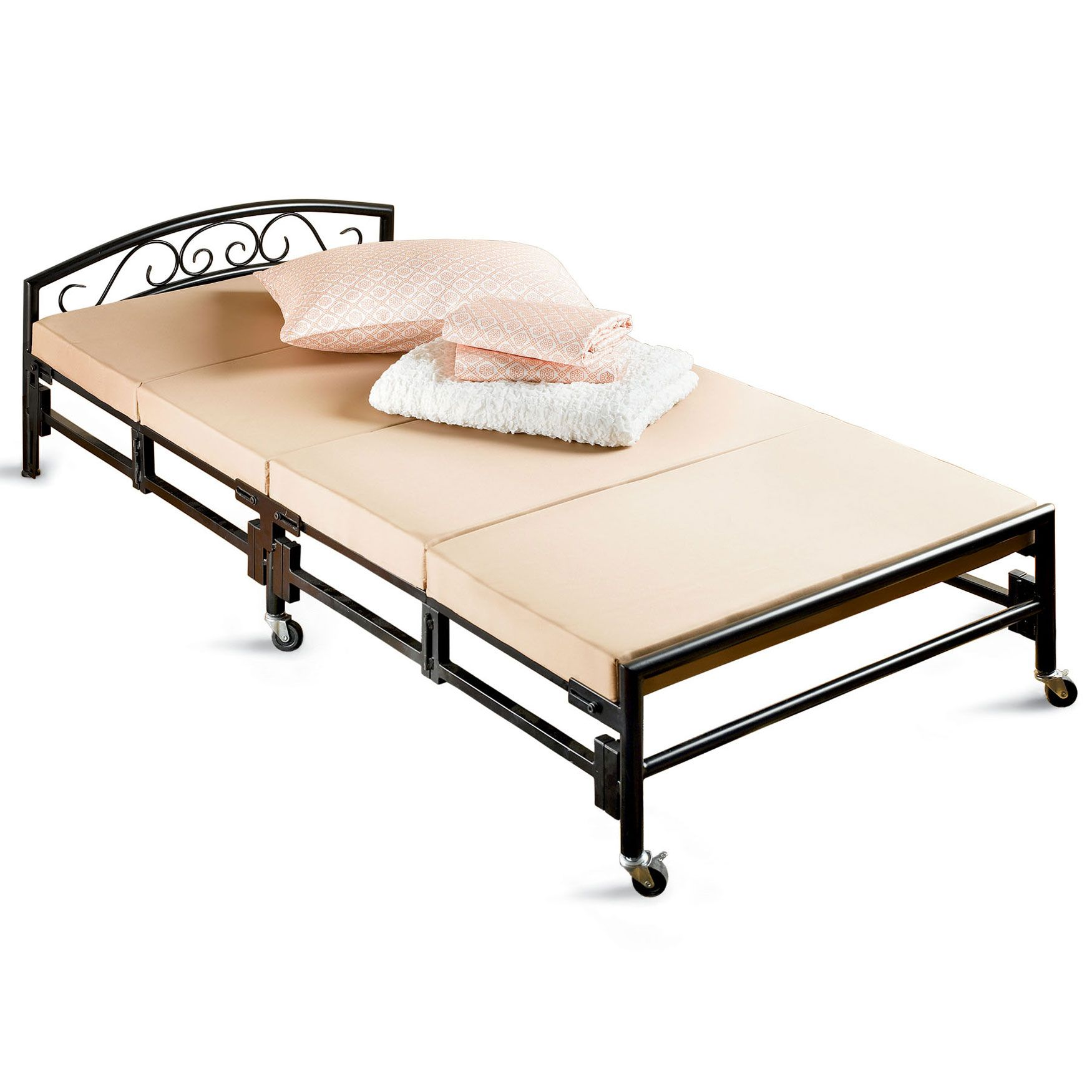 Best Extra Sturdy Folding Bed Oversized Bedding Furniture 640 x 480