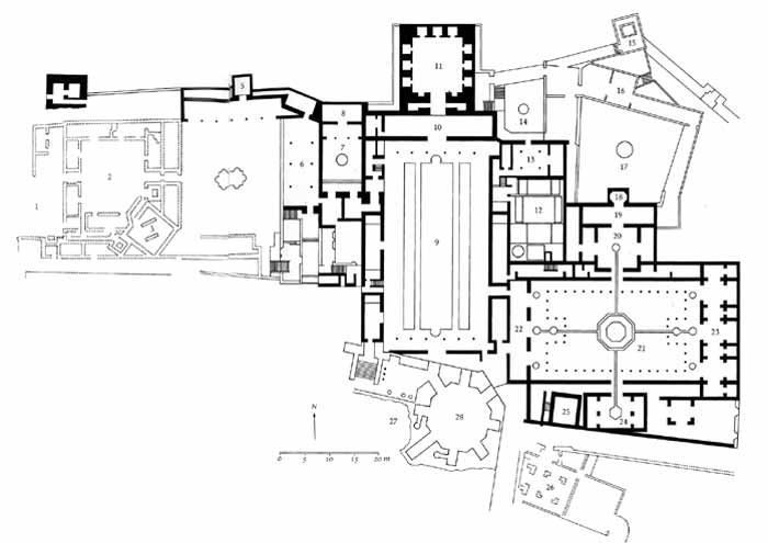 Spain. Granada. The Alhambra. Palace Complex. Plan