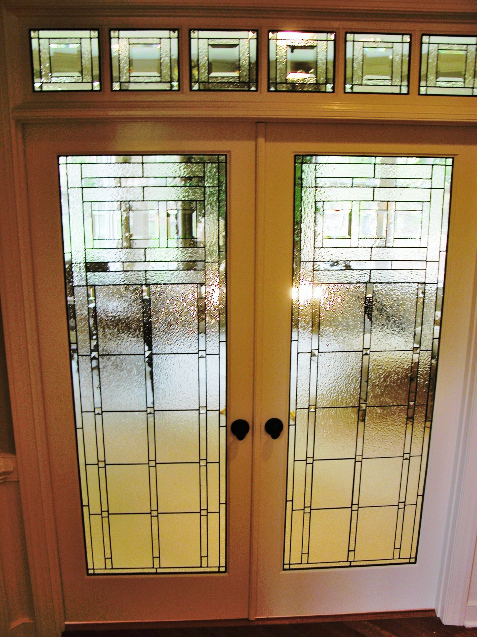 Craftsman Patroits Study French Doors Stained Glass Stained Glass Door Glass French Doors