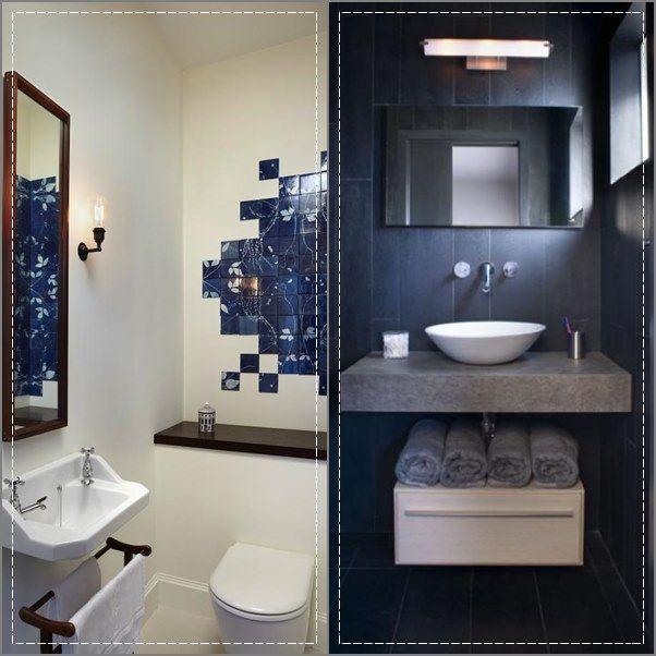 20 banheiros e lavabos pequenos Madeira escura, Lavabos e Escuro - lavabos pequeos