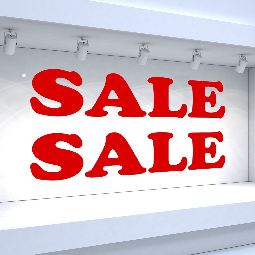 2 x SALE Window Decals Rounded Style (With images