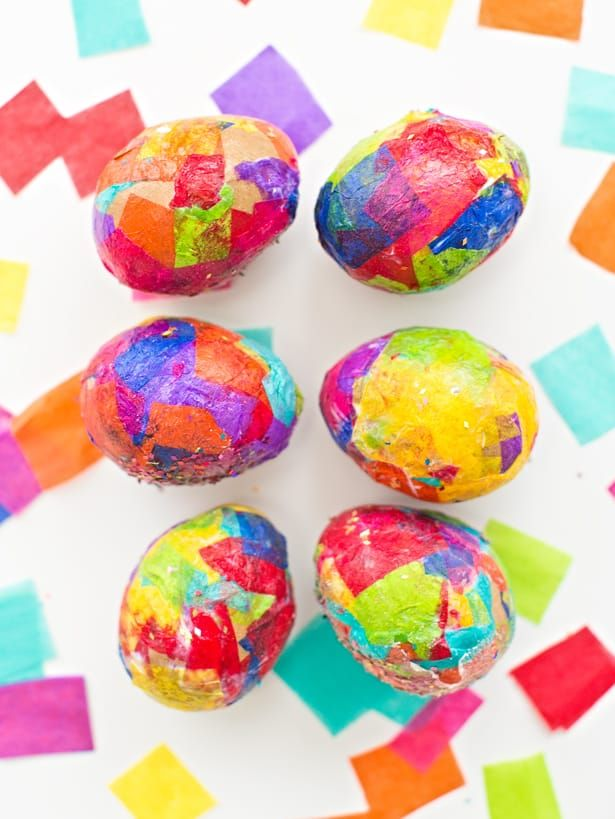 Sparkly Diy Glitter And Tissue Paper Easter Eggs Gracie