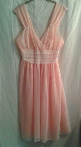 Vintage-Elsa-Schiaparelli-Nightgown-Negligee-Size-38-Pink-White-Sheer-Nylon bf0586603