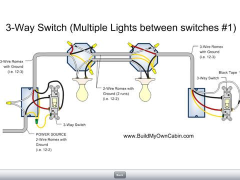 3 Way Switch 2 Lights 2 Switches Light Switch Wiring 3 Way Switch Wiring Three Way Switch
