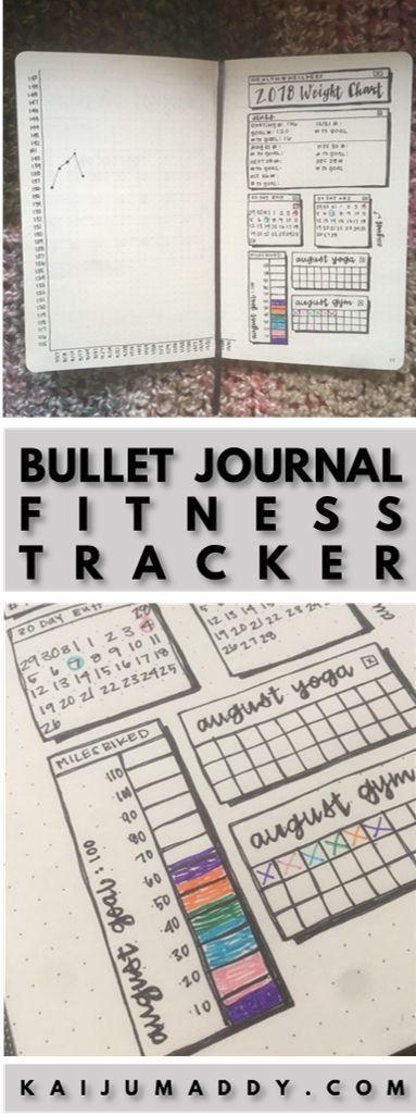 Bullet Journal Ideas: Fitness Tracker -   23 fitness journal shape ideas