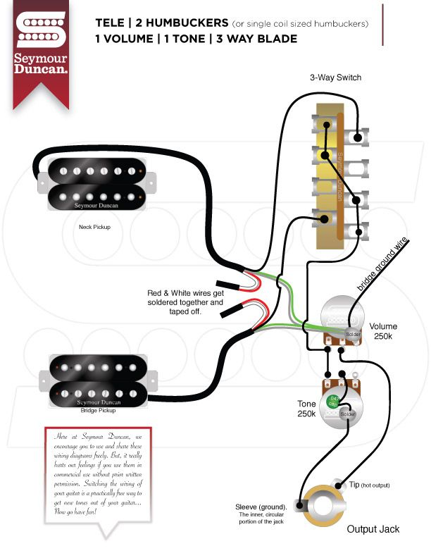 Telecaster Wiring Diagram Humbucker & Single Coil