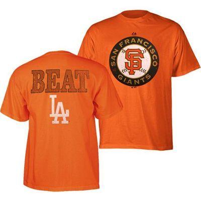 reputable site 57a07 27921 San Francisco Giants Beat LA T-Shirt (Orange)