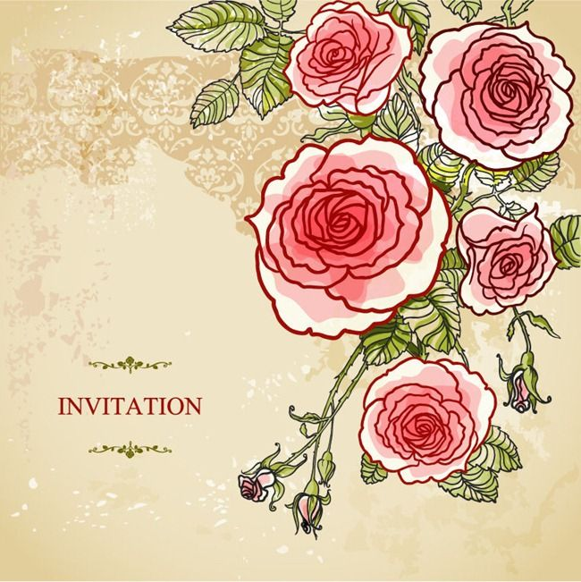 Wedding invitation card with abstract floral background vector art wedding invitation card with abstract floral background stopboris Images
