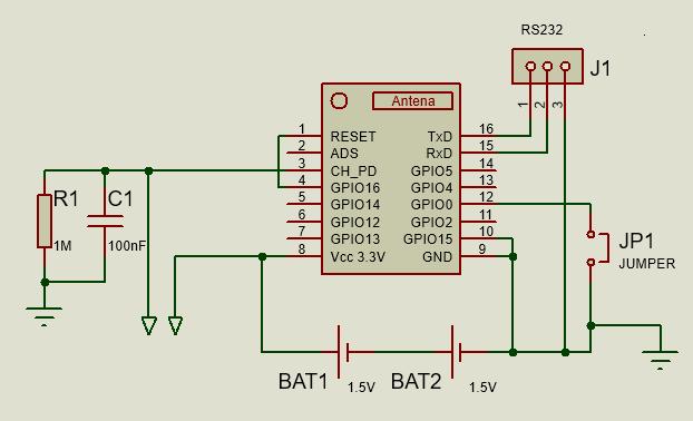 Schaltplan WLAN-Wassermelder mit ESP-07 | Funk Wassermelder ...