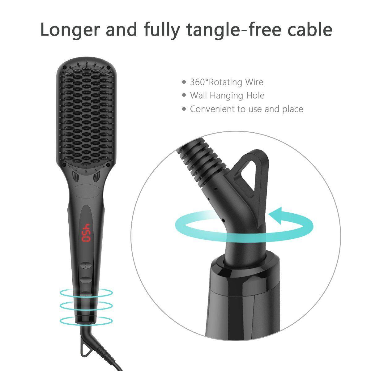 Professional Hair Straightener Brush Breett Anion