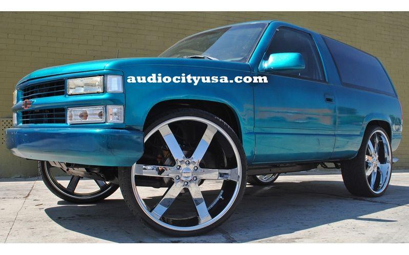 30 Inch Rims On Trucks : Inch wheels rims for escalade tahoe ram