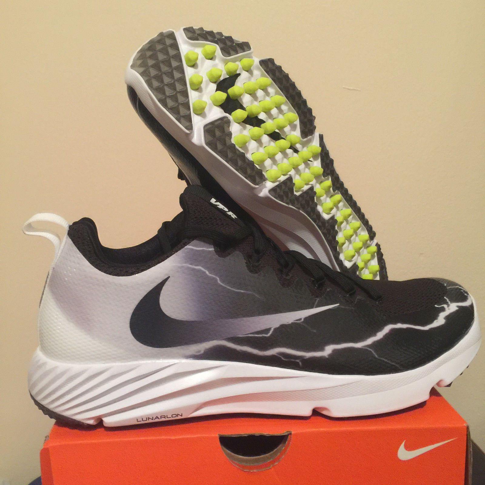f240798fe5 NIKE VAPOR SPEED TURF LTNG LIGHTNING MENS FOOTBALL CLEAT 847100-010 BLACK  $110