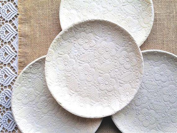 Sieh dir dieses Produkt an in meinem Etsy-Shop https://www.etsy.com/de/listing/521547295/white-ceramic-plate-ceramic-plate-set