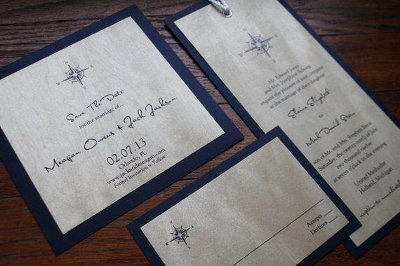 Nautical Wedding Invitation Yacht Club Seaside by decadentdesigns